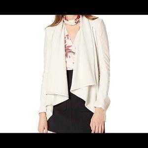 BLANK NYC Women's Beige Faux Leather & Knit Jacket